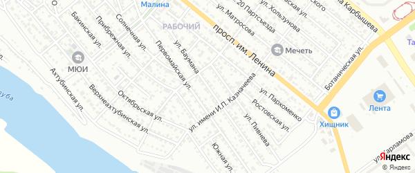 Улица Баумана на карте Волжского с номерами домов