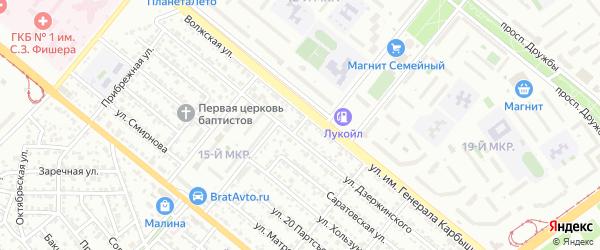 Улица Вильгельма Пика на карте Волжского с номерами домов
