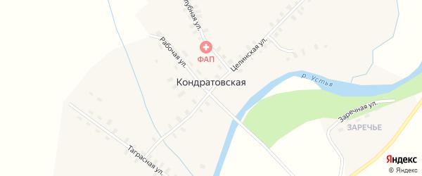 Заречная улица на карте Кондратовской деревни с номерами домов