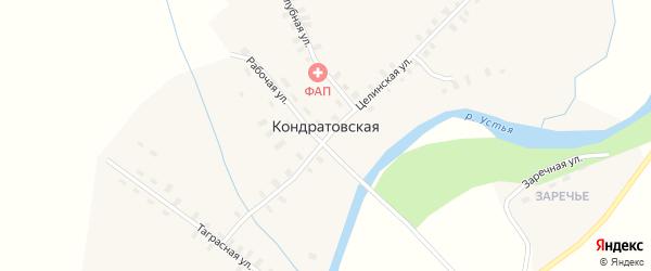 Береговая улица на карте Кондратовской деревни с номерами домов