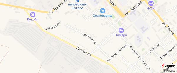 Улица Чехова на карте Волжского с номерами домов