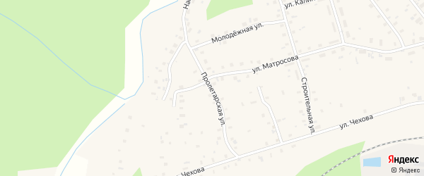 Пролетарская улица на карте поселка Киземы с номерами домов