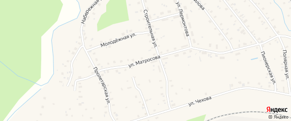 Улица Матросова на карте поселка Киземы с номерами домов