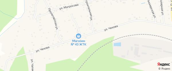 Улица Чехова на карте поселка Киземы с номерами домов