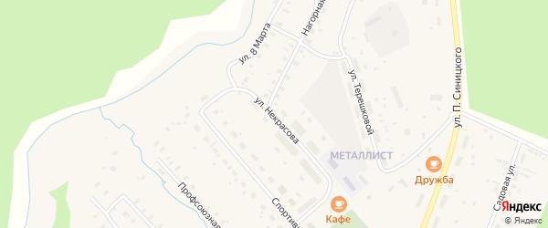 Улица Некрасова на карте поселка Киземы с номерами домов