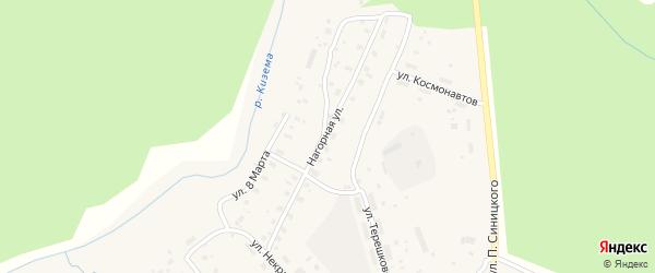 Нагорная улица на карте поселка Киземы с номерами домов