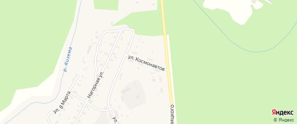 Улица Космонавтов на карте поселка Киземы с номерами домов