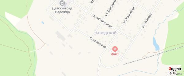 Советская улица на карте поселка Киземы с номерами домов