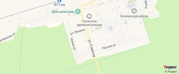 Улица Советов на карте поселка Киземы с номерами домов