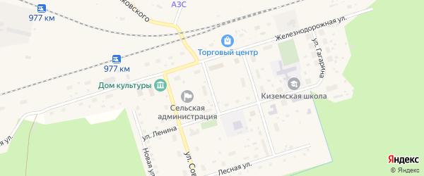 Детский переулок на карте поселка Киземы с номерами домов