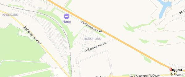 Карта поселка Побочино города Пензы в Пензенской области с улицами и номерами домов