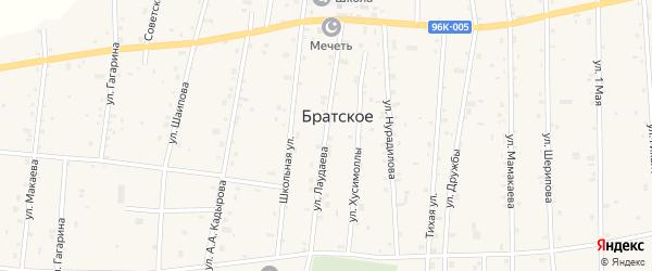 Улица им У.Лаудаева на карте Братского села с номерами домов