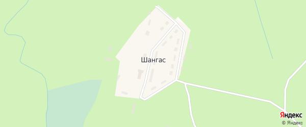 Улица Строителей на карте поселка Шангаса с номерами домов