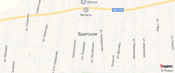 Пролетарская улица на карте Братского села с номерами домов