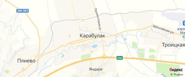 Карта Карабулака с районами, улицами и номерами домов: Карабулак на карте России