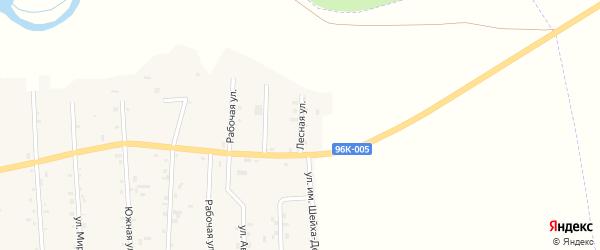 Лесная улица на карте Братского села с номерами домов