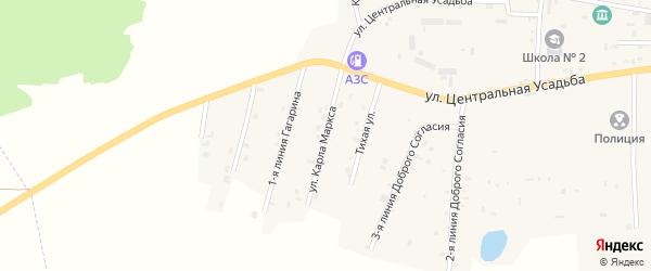 Улица К.Маркса на карте Гвардейского села с номерами домов