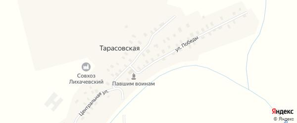 Заречная улица на карте Тарасовской деревни с номерами домов