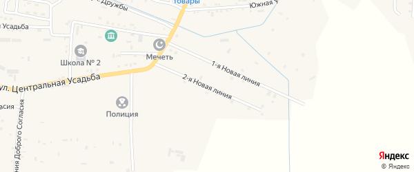 Новая улица на карте Гвардейского села с номерами домов