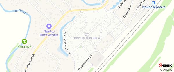 Квартал Старая Кривозеровка на карте Пензы с номерами домов
