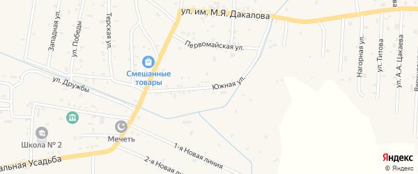 Улица им М.Я.Дакалова на карте Гвардейского села с номерами домов