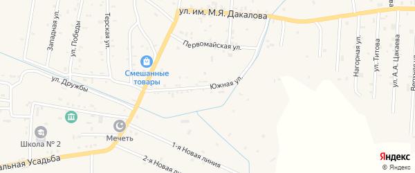 Улица М.Я.Дакалова на карте Гвардейского села с номерами домов
