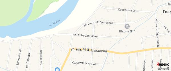 Улица Х.Нурадилова на карте Гвардейского села с номерами домов