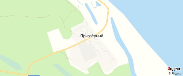 Карта Приозерного поселка в Архангельской области с улицами и номерами домов