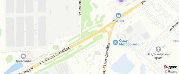 Улица 40 лет Октября на карте Пензы с номерами домов