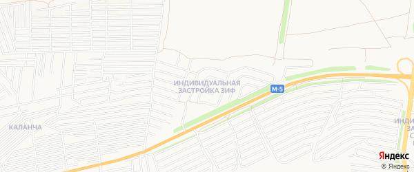 Карта поселка Индивидуальная Застройка ЗИФ города Пензы в Пензенской области с улицами и номерами домов