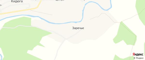 Карта деревни Заречья в Архангельской области с улицами и номерами домов