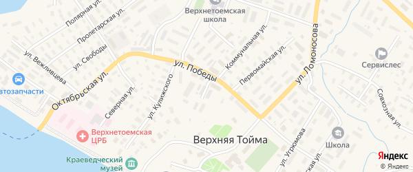 Советская улица на карте села Верхней Тоймы с номерами домов