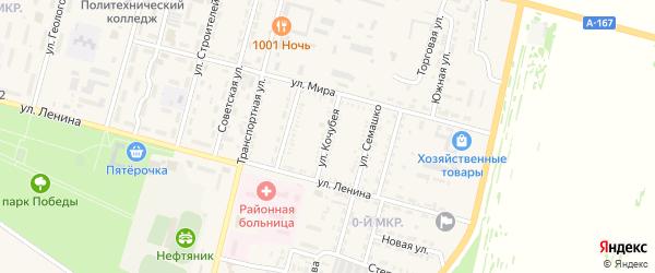 Улица Кочубея на карте Нефтекумска с номерами домов