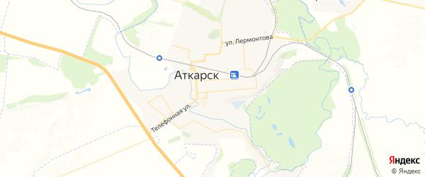 Карта Аткарска с районами, улицами и номерами домов