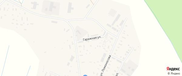 Гаражная улица на карте села Верхней Тоймы с номерами домов
