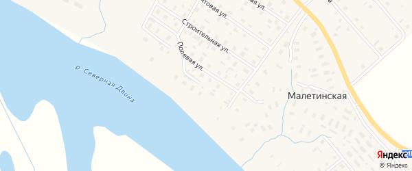 Речная улица на карте села Верхней Тоймы с номерами домов