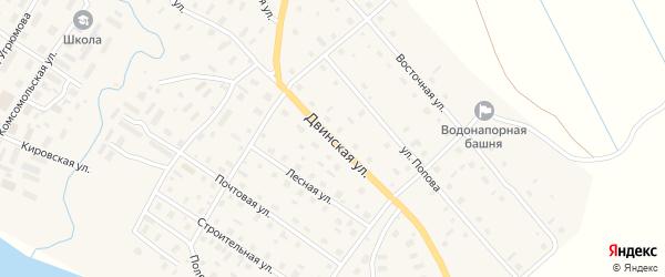 Улица Попова на карте села Верхней Тоймы с номерами домов