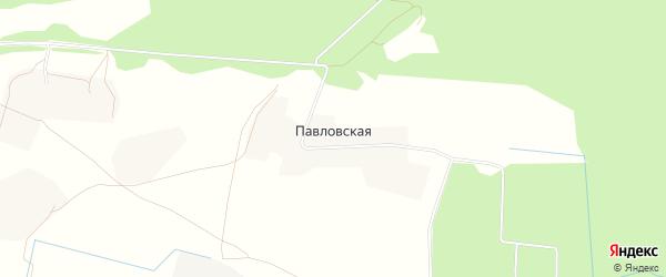 Карта Павловской деревни в Архангельской области с улицами и номерами домов