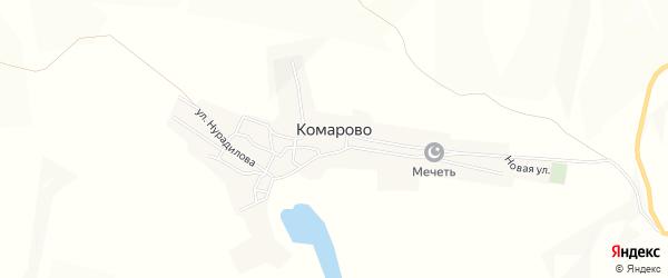 Территория с.Орлиное на карте села Комарово с номерами домов
