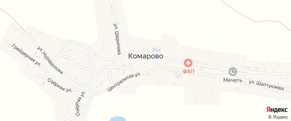 Улица А.Шерипова на карте села Комарово с номерами домов