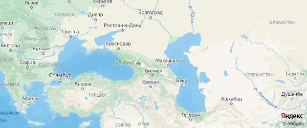 Карта Ингушетии с городами и районами