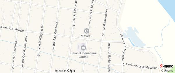 Улица А.А.Кадырова на карте села Калауса с номерами домов