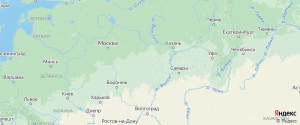 Карта Мордовии с городами и районами