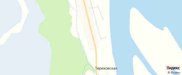 Карта Тереховской деревни в Архангельской области с улицами и номерами домов