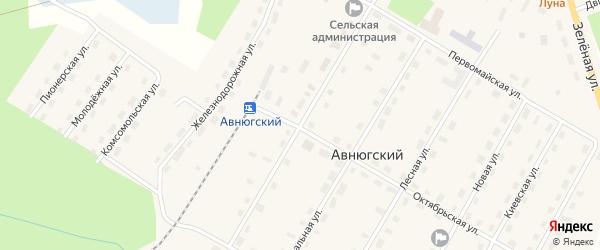 Строительная улица на карте Авнюгского поселка с номерами домов
