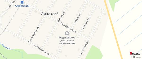 Новая улица на карте Авнюгского поселка с номерами домов