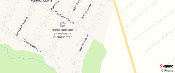 Восточная улица на карте Авнюгского поселка с номерами домов