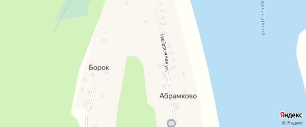 Набережная улица на карте поселка Абрамково с номерами домов