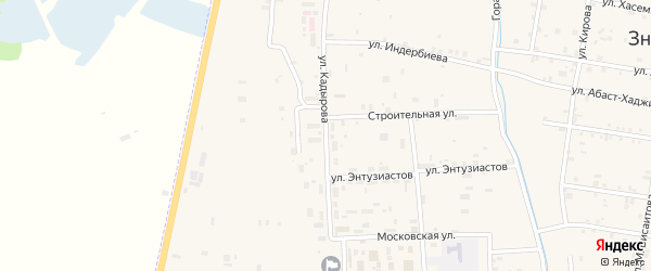 Улица Им З.Кадырова на карте села Бено-Юрт с номерами домов