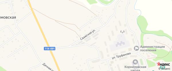 Сважская улица на карте Двинского поселка с номерами домов
